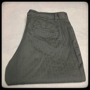 Old Navy gray fainted striped slacks size 14